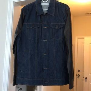 Men's Five Four Faux Leather/ Jean jacket
